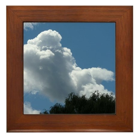 Poodle in Clouds? Framed Tile