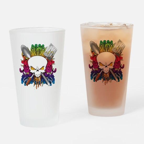 Chef Skull Drinking Glass