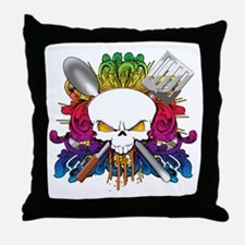 Chef Skull Throw Pillow