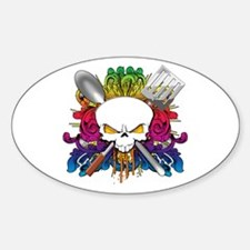 Chef Skull Decal