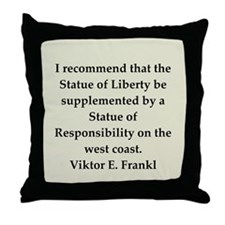 Viktor Frankl quote Throw Pillow