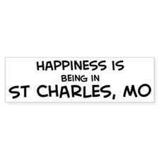 Happiness is St. Charles Bumper Bumper Sticker