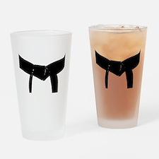 Martial Arts Black Belt Drinking Glass