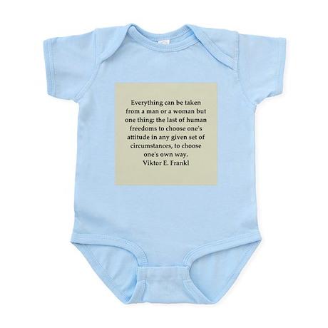 Viktor Frankl quote Infant Bodysuit