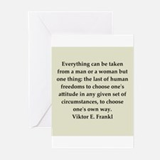 Viktor Frankl quote Greeting Cards (Pk of 10)