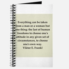 Viktor Frankl quote Journal