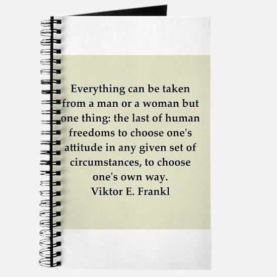 Viktor Frankl quote Journal