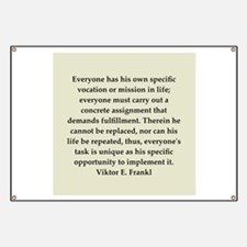 Viktor Frankl quote Banner