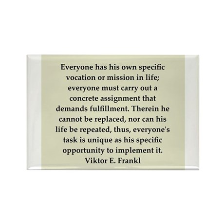 Viktor Frankl quote Rectangle Magnet (10 pack)