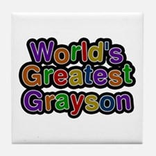 World's Greatest Grayson Tile Coaster