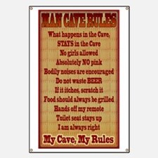 Man Cave Rules Banner