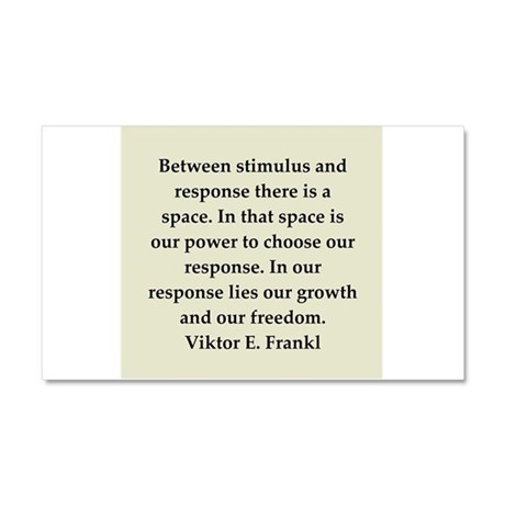 Viktor Frankl quote Car Magnet 20 x 12