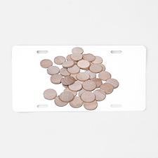 Blank_Wooden_Nickels Aluminum License Plate