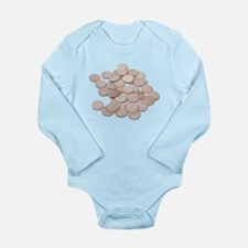 Blank_Wooden_Nickels Long Sleeve Infant Bodysuit