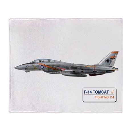 VF-114 Aardvarks Throw Blanket