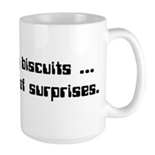 IT Crowd - A fan of tiny biscuits... Ceramic Mugs
