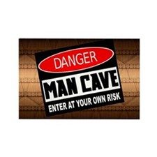 danger man cave Magnets
