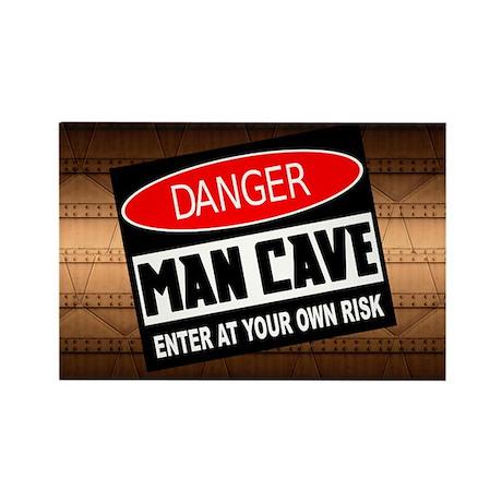 danger man cave Magnets