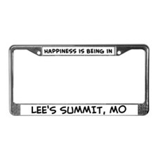 Happiness is Lee's Summit License Plate Frame