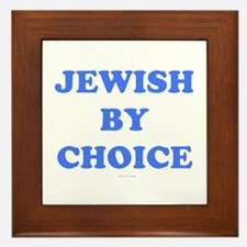 Jewish By Choice Framed Tile