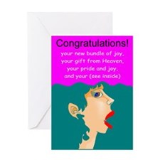 Funny new baby Greeting Card