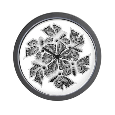 Moths Wall Clock