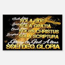 Soli Deo Gloria Sticker (Rectangle)