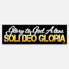 Soli Deo Gloria Bumper Bumper Sticker