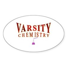 Varsity Chemistry in red Oval Stickers