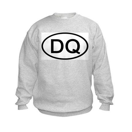 DQ - Initial Oval Kids Sweatshirt