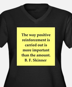 b f skinner quote Women's Plus Size V-Neck Dark T-