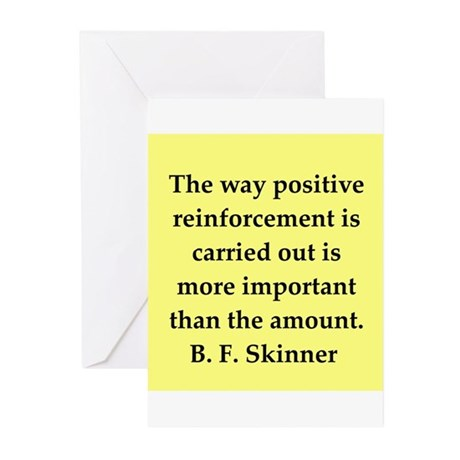 b f skinner quote Greeting Cards (Pk of 10)