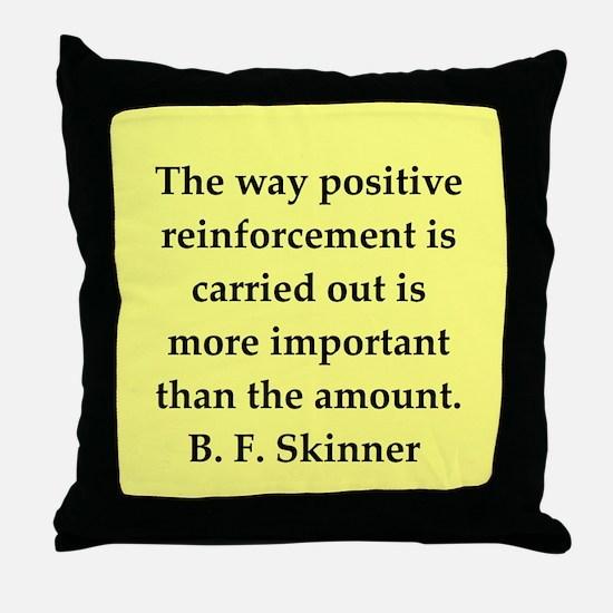 b f skinner quote Throw Pillow