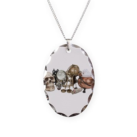 Cluttered_Witch_Corner Necklace Oval Charm