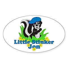 Little Stinker Jon Sticker (Oval 10 pk)