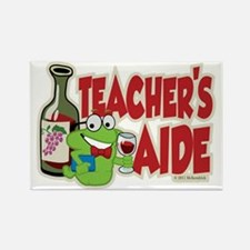 Teacher's Aide (Wine) Rectangle Magnet