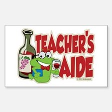 Teacher's Aide (Wine) Sticker (Rectangle)