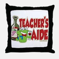Teacher's Aide (Wine) Throw Pillow