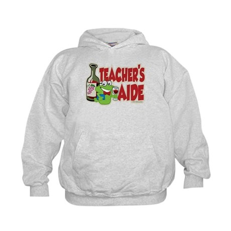 Teacher's Aide (Wine) Kids Hoodie