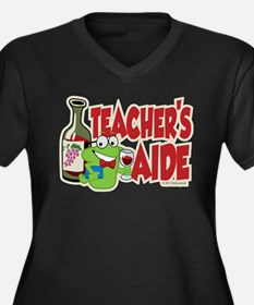 Teacher's Aide (Wine) Women's Plus Size V-Neck Dar