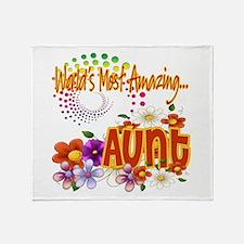 World's Amazing Aunt Throw Blanket