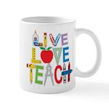 Live love teach Coffee Mugs