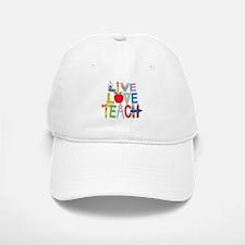 Live Love Teach Baseball Baseball Cap