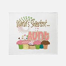 World's Sweetest Aunt Throw Blanket