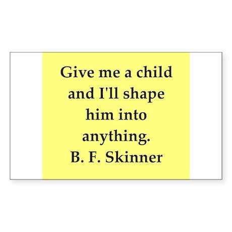 b f skinner quote Sticker (Rectangle 10 pk)