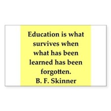 b f skinner quote Decal