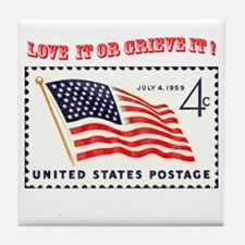 Love America Tile Coaster