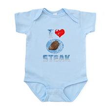 Vintage I heart Steak Infant Bodysuit