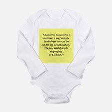 b f skinner quote Long Sleeve Infant Bodysuit