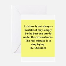 b f skinner quote Greeting Card